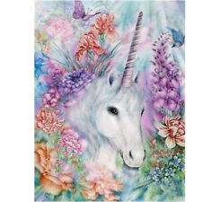 1set Diamond embroidery flower unicorn diamond painting Cross Stitch home^^