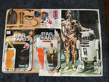 Vintage Kenner Star Wars weapons, accessories & card backs lettered sabers lot!