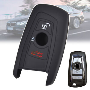 Remote Silicone Key Cover Case Fob For BMW 3 5 7 Series 3 Button Car Key Holder