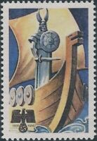 Stamp Replica Label Germany 0357 WWII Norway Viking Ship Norseman MNH