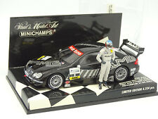 Minichamps 1/43 - Mercedes CLK DTM Hockenheim 2002 Alesi + Pilote