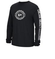 NHL Chicago Blackhawks Icon Long Sleeve Hockey Shirt New Mens Sizes MSRP $28