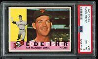 1960 Topps Baseball #23 EDDIE FISHER San Francisco Giants RC UER PSA 8 NM-MT