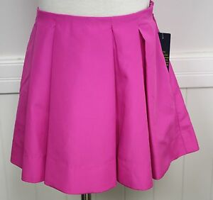 Ralph Lauren Skirt Bright Pink Pleated Dressy Skirt Holiday Special Occasion