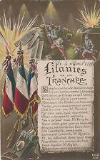Litanies de la Tranchee Litany of the Trench Hand Colored Patriotic Postcard