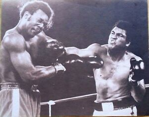 11x14 Ali boxing action sepia movie poster