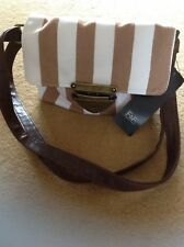 Lovely Little Summer Bag Colour Brown And White Stripe
