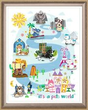 WDW - FairyTails 2019 Event - It's A Pets World Framed Pin Set (LE 250)