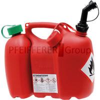 Doppelkanister 6 Liter / 3 Liter mit Stutzen rot Benzinkanister Ölkanister