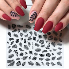 1 Sheet Nail Art Stickers Maple Leaf Manicure Decor Water Transfer Decals