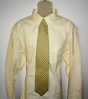 Roundtree Yorke Gold Label Dress Shirt * Yellow ECRU Size 20 - 34 BIG - NWT