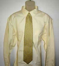 Roundtree Yorke Dress Shirt Solid Yellow Size 19 - 37 TALL NWT