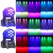 2PCS 70W RGBW LED Spot Moving Head Stage Light Beam DMX Club DJ Party Lighting