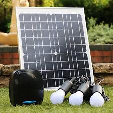 PK Verde 20W sistema de iluminación solar de 12V con batería de litio, Kit de Banco de Alimentación