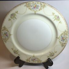"""Meito Claribel Japan China Hand Painted Pink & Blue Floral Dinner Plate 10"""" NICE"""