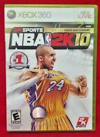 NBA 2K10 Tenth Anniversary Microsoft Xbox 360 Rare Game Kobe Bryant MINT 1 owner