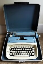Vintage 1960's Royal Safari Portable Manual Typewriter with Blue Case