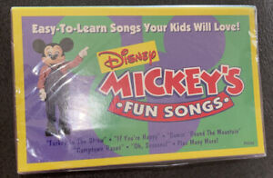 Vintage Disney MICKEY'S FUN SONGS Cassette Tape Promo Limited Edition