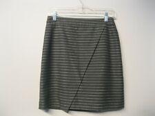 Loft Women's Pencil Mini Skirt Gray Striped Sz 2