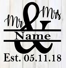 Mr. & Mrs. est. Vinyl Decal 3x3