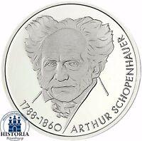 BRD 10 DM Silber 1988 - Arthur Schopenhauer Stempelglanz Münze in Münzkapsel