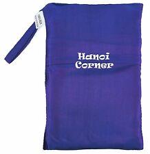 Dark Purple Pure Silk Sleeping Bag Liner Travel Sheet