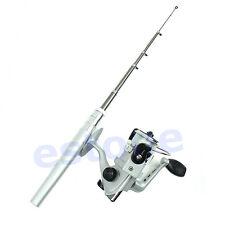 Portable Pocket Pen Shape Mini Aluminum Alloy Fishing Rod Pole+Reel Line