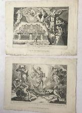 Appo Gio.Maria Pedrali  -  2 Radierungen um 1700 -  Biblische Szenen