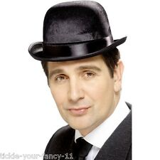 Men's Black Fancy Dress Old England Indestructible Derby Bowler Hat Chaplin Fun