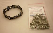 1 x Two Strand Hematite Stretch Bracelet Bead Kit- Healing  Protection No Tools