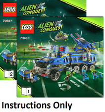 INSTRUCTIONS ONLY LEGO EARTH DEFENSE HQ 7066 Alien Conquest books from set
