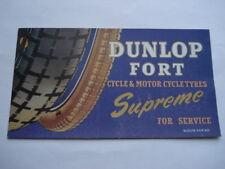 1930S vintage Dunlop Fort CICLO & PNEUMATICI MOTO Supreme per il servizio ADV blotter