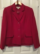 Womans Casual Corner Red Skirt Suit - Size 8