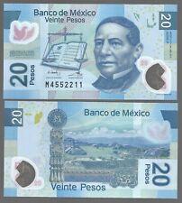 MEXICO 20 PESOS (2011),  P-122 , UNC POLYMER NOTE - SERIES P