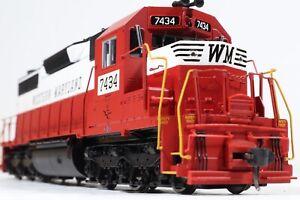 Atlas Master Locomotive Western Maryland Low Nose SD35 #7434 Rare Circus Scheme