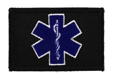 EMT Paramedic Star of Life Tactical Hook and Loop Embroidered Morale Tag Patch