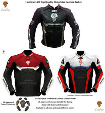 Lionstar Motorbike Motorcycle Real Leather Racing Jacket with CE Approve Armours