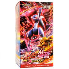 "Pokemon 150 Cards XY Break ""Red Flash"" Booster Box 30 Packs / Korean Version"