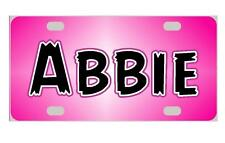 PINK Personalized Kids MINI LICENSE PLATE Any Name Bicycles  ATVs  Door Sign