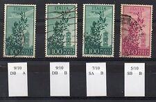 1948 REPUBBLICA POSTA AEREA 100+300 LIRE FILIGRANA LETTERE USATI C/5460
