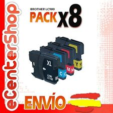 8 Cartuchos LC980 NON-OEM Brother MFC-255CW / MFC255CW 24H