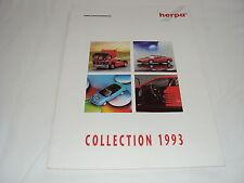 W/3/13/2 Modellauto Auto Katalog Prospekt Herpa Miniaturmodelle Collection 1993