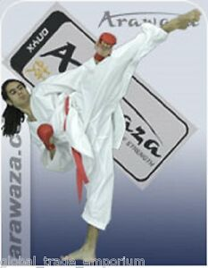BRAND NEW ARAWAZA ONYX KARATE SUIT GI MARTIAL ARTS 8oz WKF APPROVED ** REDUCED**