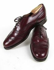 "Vintage Royal Windsor Oxblood "" GRENSON "" Men's 9.5 D Leather Wing Tip Shoes"