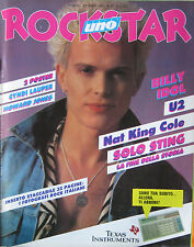 ROCKSTAR 61 1985 Billy Idol Nat King Cole U2 Propaganda Faith Brothers Sade