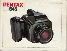 Pentax Bedienungsanleitung für Pentax 645 - english #Su