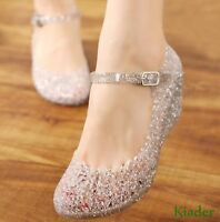 Beach Wedge Shoe High Heels Slipper Jelly Shoes Lady  Ankle Strap Sandals Summer