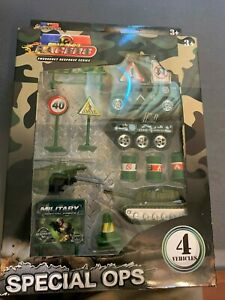 Die Cast Toy Truck Car Special Ops Racers. Military Vehicles Playset NIB, gifts