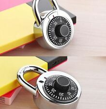 Rotary Padlock Digit Combination Master Code Lock Safe With Round Fixed Dial WYC