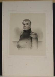 ADAM VON KRUSENSTERN ESTONIA 1842 LLANTA ANTIQUE ORIGINAL LITHOGRAPHIC PORTRAIT
